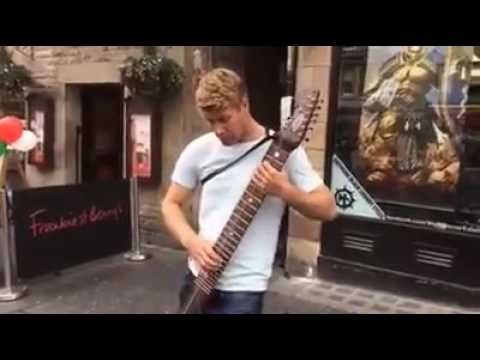 Mark White - 'Up From The Ashes' - Chapman Stick Street Performance