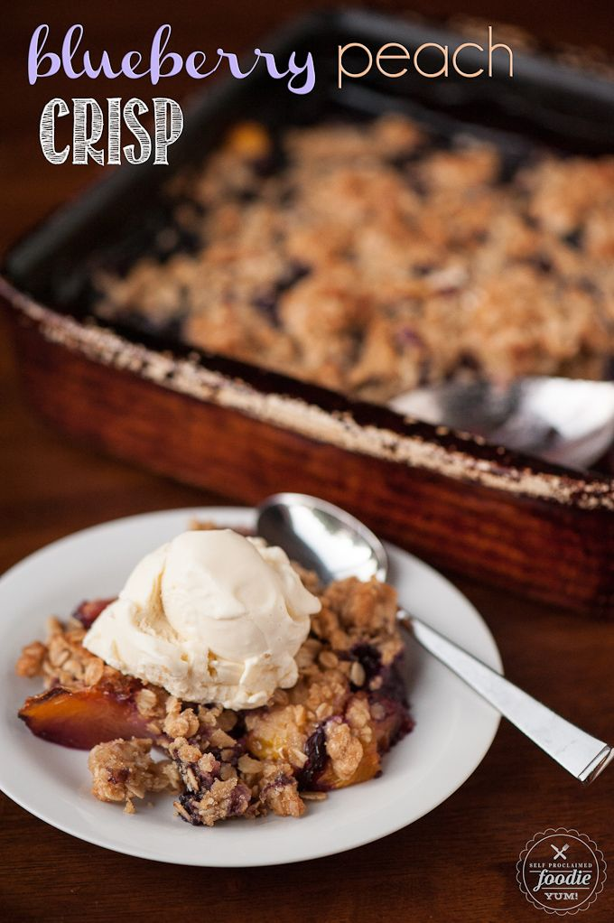 Blueberry Peach Crisp / Cobbler