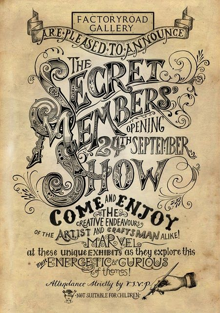 The Secret Members Show - How cool are old style posters? Classic is still classic!