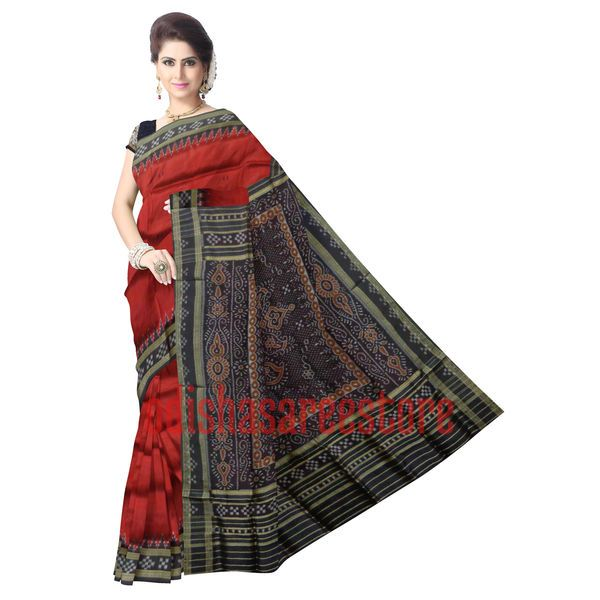 Stunning #Sambalpuri silk saree for party wear use. Buy now: http://www.odishasareestore.com/handloom/oss5030-silk-sari-mother-law-wedding-gift/p-5405372-24847241871-cat.html#variant_id=5405372-24847241871