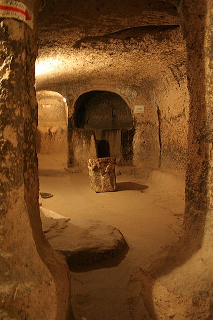 Derinkuyu underground city, one of the parts open for visitors.