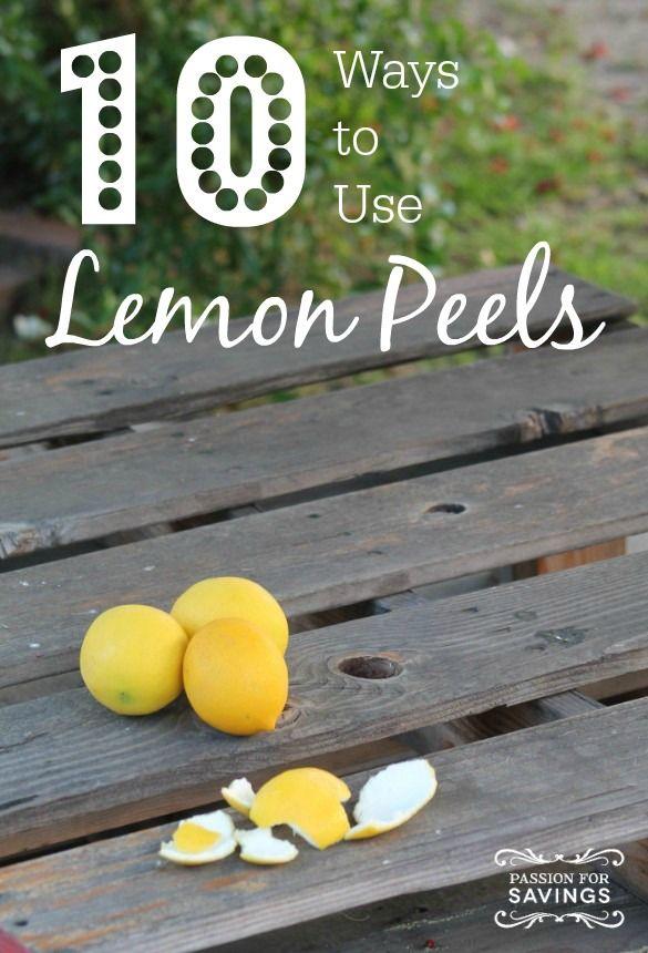 10 Ways to use Lemon Peels! EASY DIY Tips for Lemons!