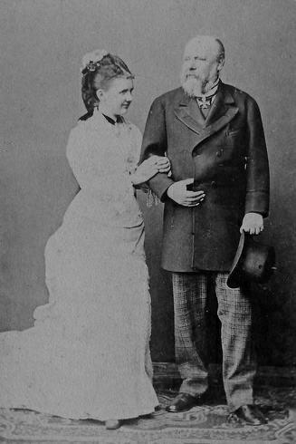 HM King Willem III and Queen Emma of the Netherlands. Married: January 7, 1879. Queen Emma was 41 years younger than her husband.