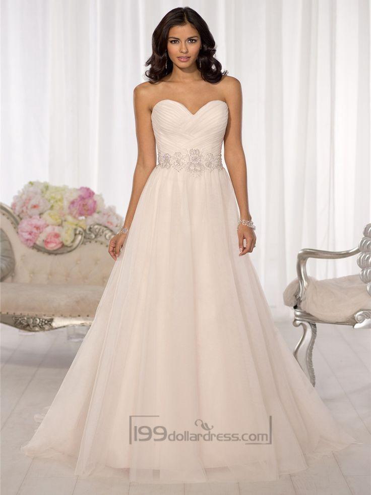 Simple Criss-cross Sweetheart A-line Wedding Dresses