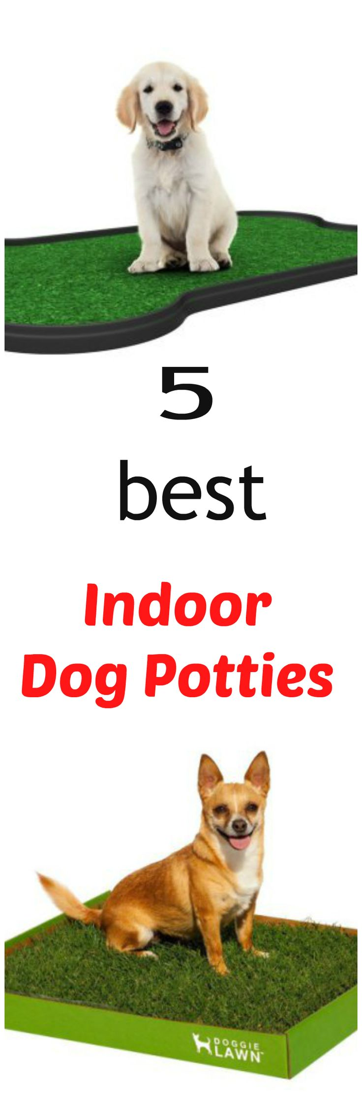 Dog potties are a good option for all pet owners, but especially for those who are really busy, have unpredictable schedules or live in places that are too hot, cold or rainy. There are lots of dog potty systems available. But after doing a ton of research, I think these five dog potties are five of the best indoor dog potties available in the market today and the ones I recommend you try first... see more at PetsLady.com ... The FUN site for Animal Lovers