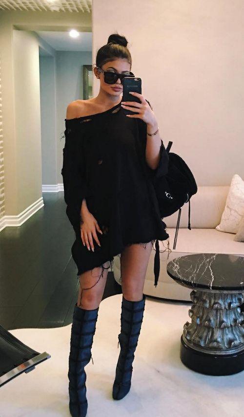 25+ Best Ideas About Kylie Jenner Black Dress On Pinterest