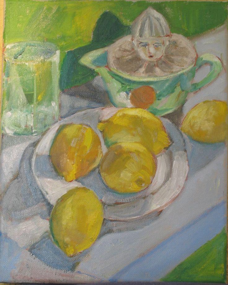 Lemons and Juicer.