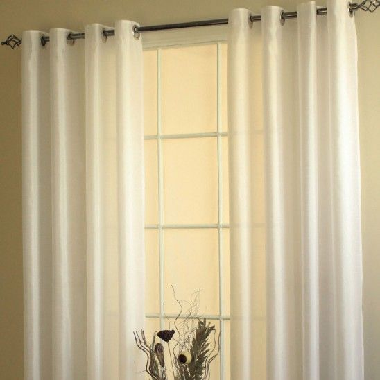 Rideaux à oeillets en fausse soie collection Milano - Couleurs Unies - Rideaux à fenêtres - Décor