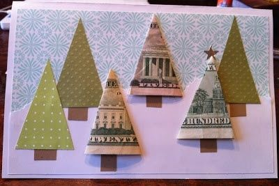Cute money tree card—fun way to give money for Christmas❣ kristin.small
