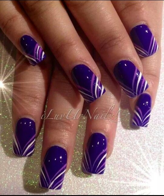 The 25+ best Purple nail designs ideas on Pinterest | Fun nail designs,  Metallic nails and Fun nails - The 25+ Best Purple Nail Designs Ideas On Pinterest Fun Nail