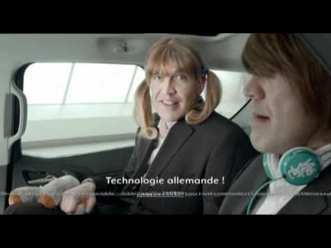 Deutsch-Französische Autowerbung