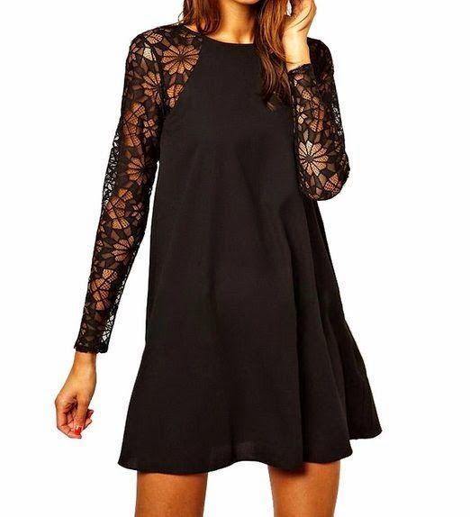 lace shift dress: Black Lace Shift Dress