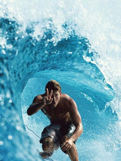 Surf lessons from a hot surfer dude