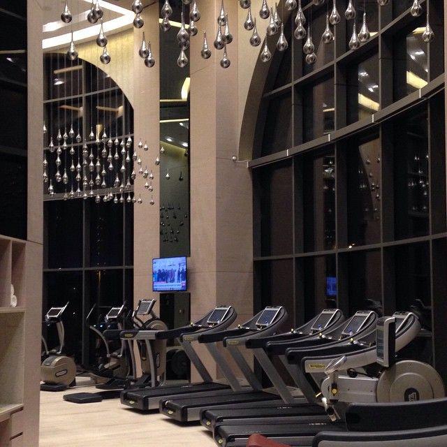 A beautifully designed fitness center at Hyatt Regency Dubai. Photo courtesy of @jetsetter520 on Instagram.