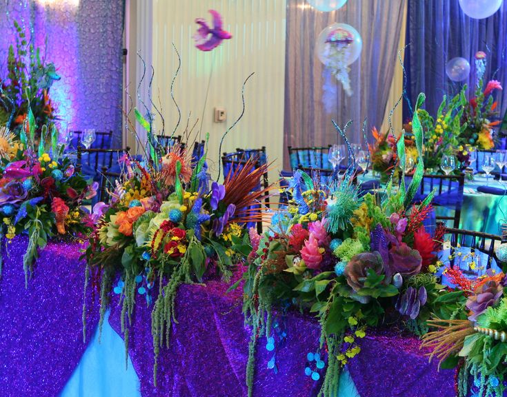 FAKE FLOWERS FOR UNDER WATER THEME WEDDING   Underwater Theme Wedding Pictures