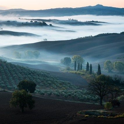 VAL D'ORCIA by  Heiko Gerlicher #Photocircle #nofilter #Toscana #Italy #Valdorcia #landscapes #landscapephotography #clouds #blue #fog #hills #photoart #picoftheday #photooftheweek #happyweekend  #Closethecircle - if you buy this photo Heiko Gerlicher and Photocircle #donate 8% towards assisting #refugee boats in distress on the #Mediterranean