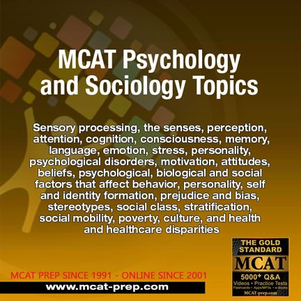 MCAT Psychology and Sociology topics, bookmark this Gold Standard MCAT guide to topics covered in the exam https://www.mcat-prep.com/mcat-topics-list/