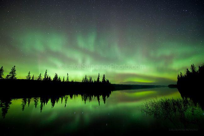 Aurora Borealis over Isle Royale National Park.  Photo Credit: Lake Superior Photo galleries.lakesuperiorphoto.com
