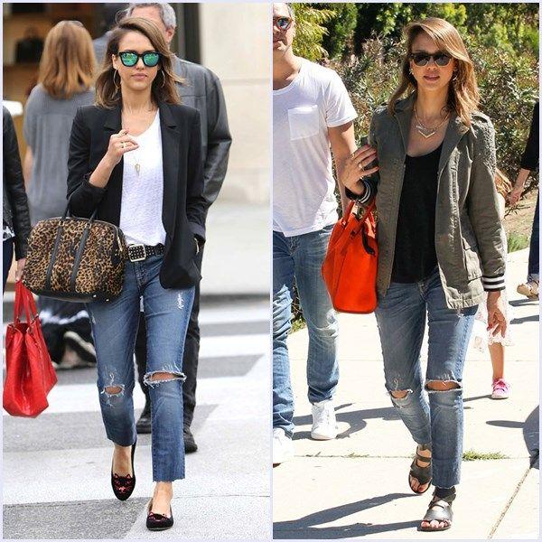 'Ripped jeans'. Un pantalón, 'siete looks'