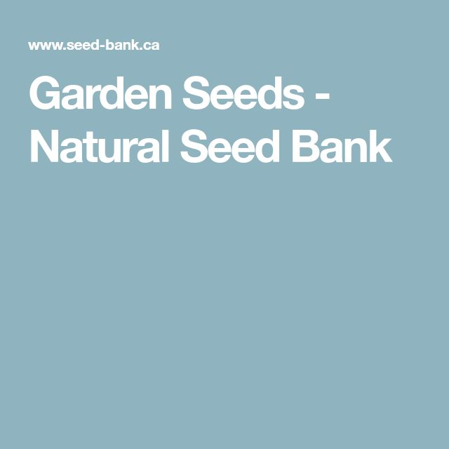Garden Seeds - Natural Seed Bank