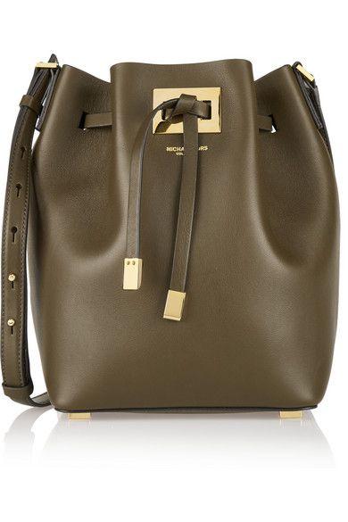 Michael Kors Collection|Miranda medium leather bucket bag|NET-A-PORTER.COM