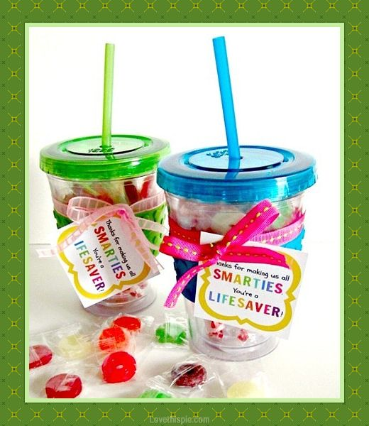 Smarties for teacher colorful candy diy crafts back to school