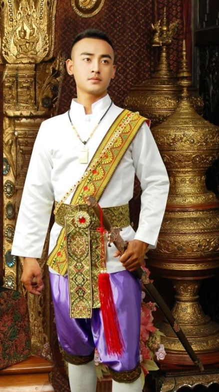 Thailand Traditional Clothing Outfit For Men Thai