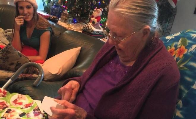 Grandma Unwraps Chocolate iPhone, Thinks It's A Real iPhone!