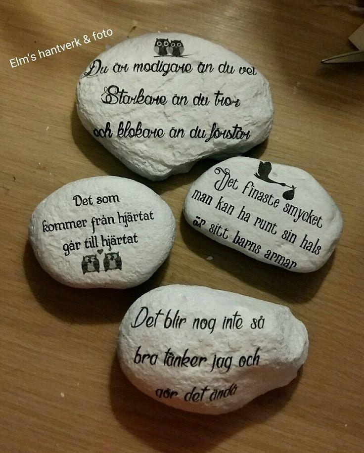 """Budskap """"citat"""" på stenar!"""
