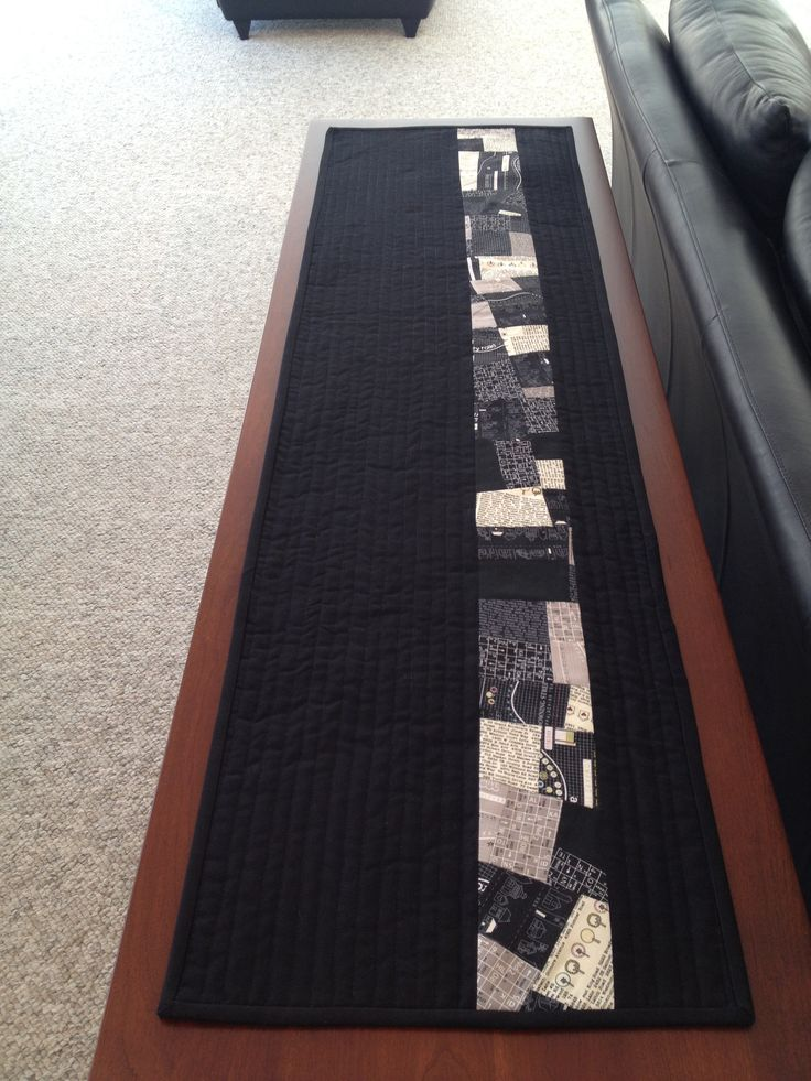 Modern quilted table runner.
