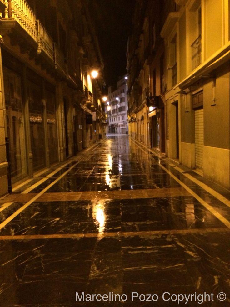 Santa María Street raining