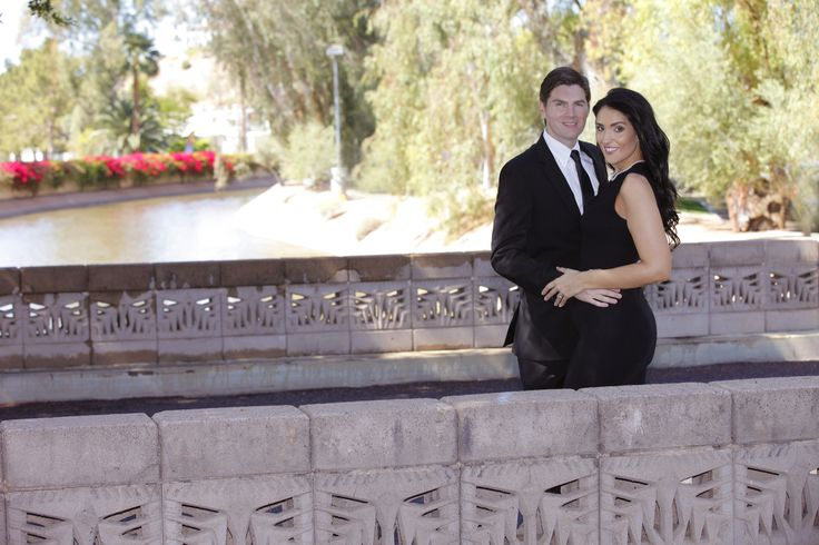 Engagement Photo - elegant - love - cute - young couple - attractive - romance  Location: Biltmore, Arizona Photo Credit: Joseph Saadeh