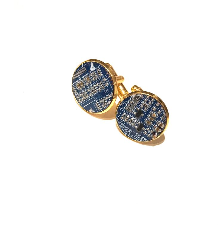 #cufflinks #motherboard #blue #gold #cuffs #circuitboard #computer #geek #cyberpunk #computing #recycled #upcycled #handmade #etsyuk #etsy #bluecufflinks #geek #technology #tech #wedding #birthday #MensGift #menswear   A personal favourite from my Etsy shop https://www.etsy.com/uk/listing/584127543/gold-motherboard-cufflinks-geek-blue