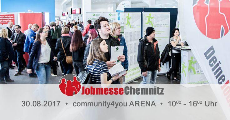 Du suchst einen neuen Job oder eine Aus- & Weiterbildung? Dann komm auf die Jobmesse Chemnitz am 30.08.2017 in der community4you ARENA an der Gellertstraße.