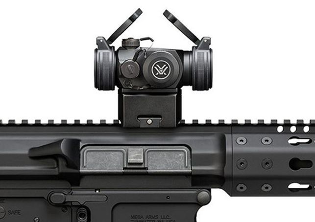 Vortex SPARC II RED DOT Get on target fast with the SPARC II. Ultra-compact and lightweight, the SPARC II (Speed Point Aiming for Rapid Combat) is equally at home mounted on an AR-15 or shotgun. Digital rear facing controls for powering on/off and adjusting the 2 MOA daylight bright red dot brightness at ten intensity levels—automatically returning to the last dot intensity used when powered up.