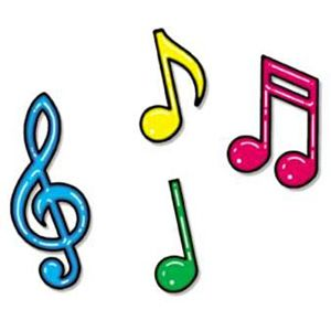 Dibujos notas musicales para imprimir