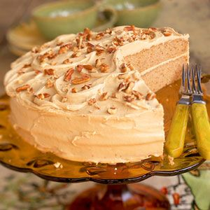 Oatmeal Layer Cake with Caramel-Pecan Frosting | MyRecipes.com
