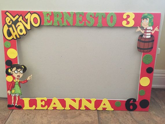 El chavo del ocho photo booth frame by ScozShop on Etsy