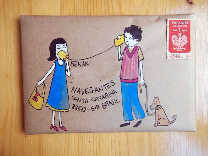 Tin can mail art