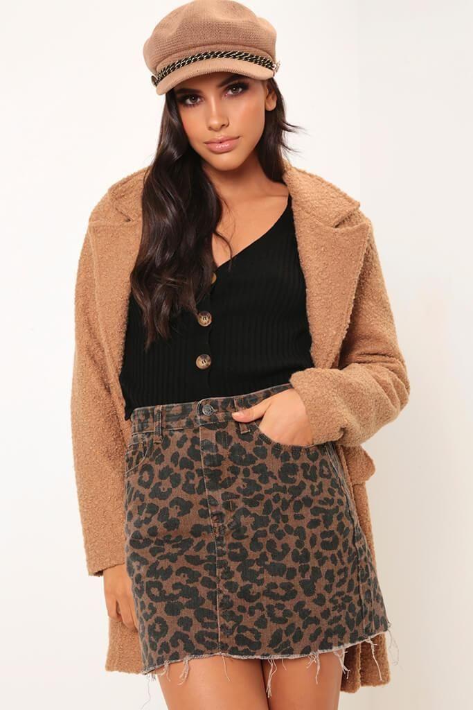 b6c25b9876 Leopard print denim skirt in 2019   CLOSET ADDITIONS   Pinterest ...