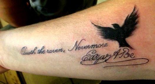 Edgar Allan Poe Nevermore Tattoos