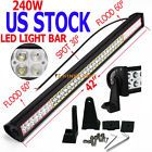 42INCH 240W LED WORK LIGHT BAR SPOT FLOOD COMBO 4WD DRIVING OFFROAD SUV TRACTOR