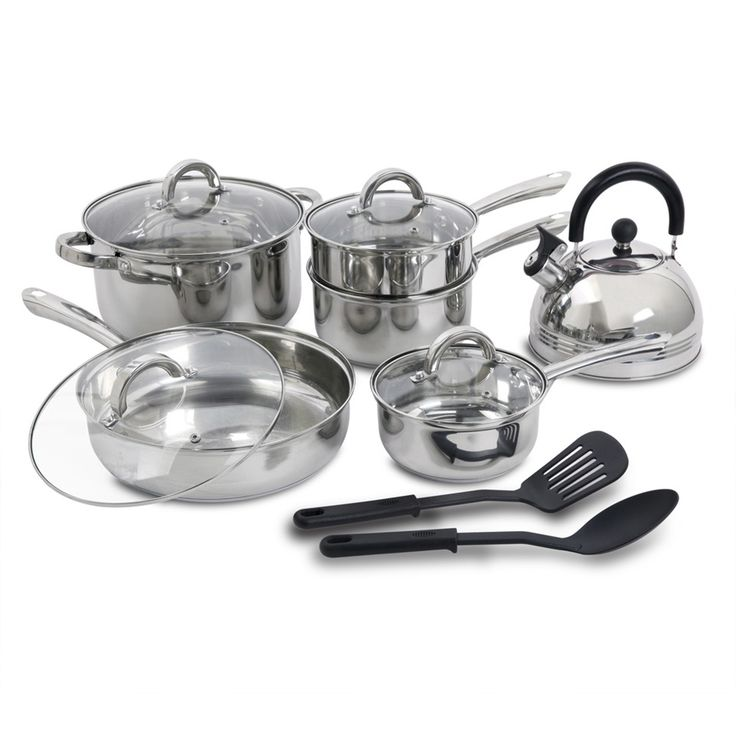 Cherry Hill 12 Piece Non-Stick Stainless Steel Cookware Set