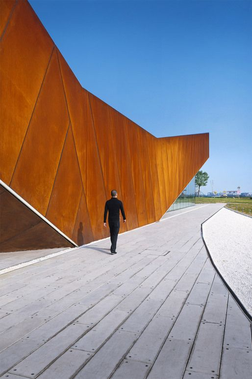 Vanke Triple V Gallery in Tianjin, China by Ministry Of Design: Galleries, Floors Plans, Vank Triple, Ministry, Corten Steel, The Jetson, Architecture, Mountain Tent, Design