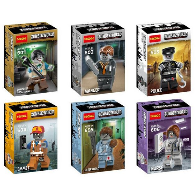 NEW hot 6pcs/set zombies world walking dead Halloween Action Figures Building Blocks Bricks Compatible toys //Price: $10.40 & FREE Shipping //     #maggie