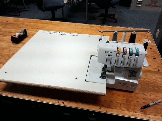 Serger extension table! - Creative Arts / Sewing Arts - Dallas Makerspace Talk