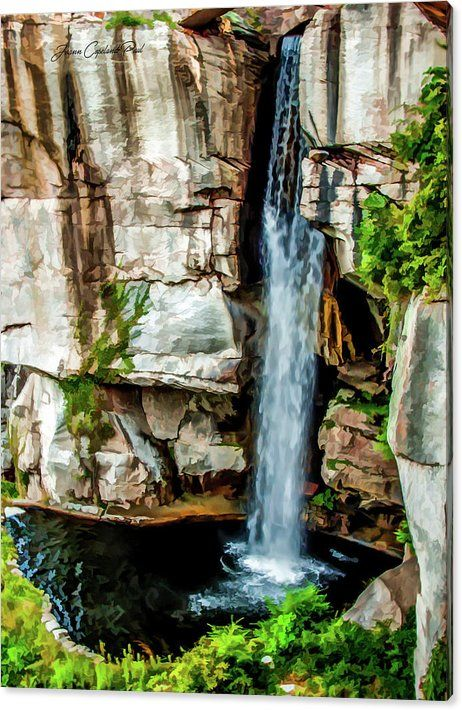 Limited Time Promotion: Lookout Mountain Waterfall Stretched Canvas Print