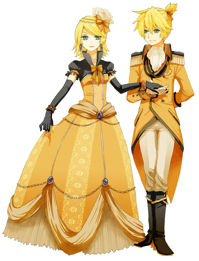 rin kagamine outfits | ... Vocaloid - Renders Vocaloid Kagamine Rin Len jumeaux robe costume
