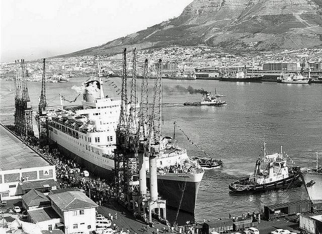 Windsor Castle in Cape Town Harbour 1977  Flickr - Photo Sharing!