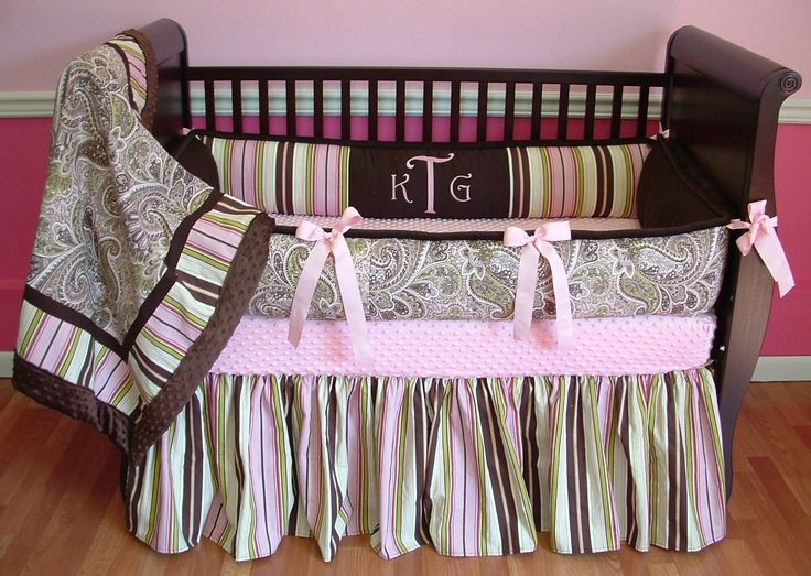 Pleasing baby girl paisley nursery bedding also pink green paisley baby bedding
